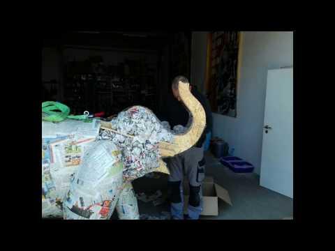 Pappmache Elefant 22