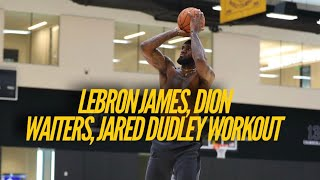 Inside Lakers Practice: LeBron James, Dion Waiters, Jared Dudley Prepare For NBA Return