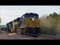[CSXT]969 GE ES44AH [HTM]755 ES44AH[HTM]5266 ES40DC Leads W251-17 Loaded Coal Ash Train Marston NC