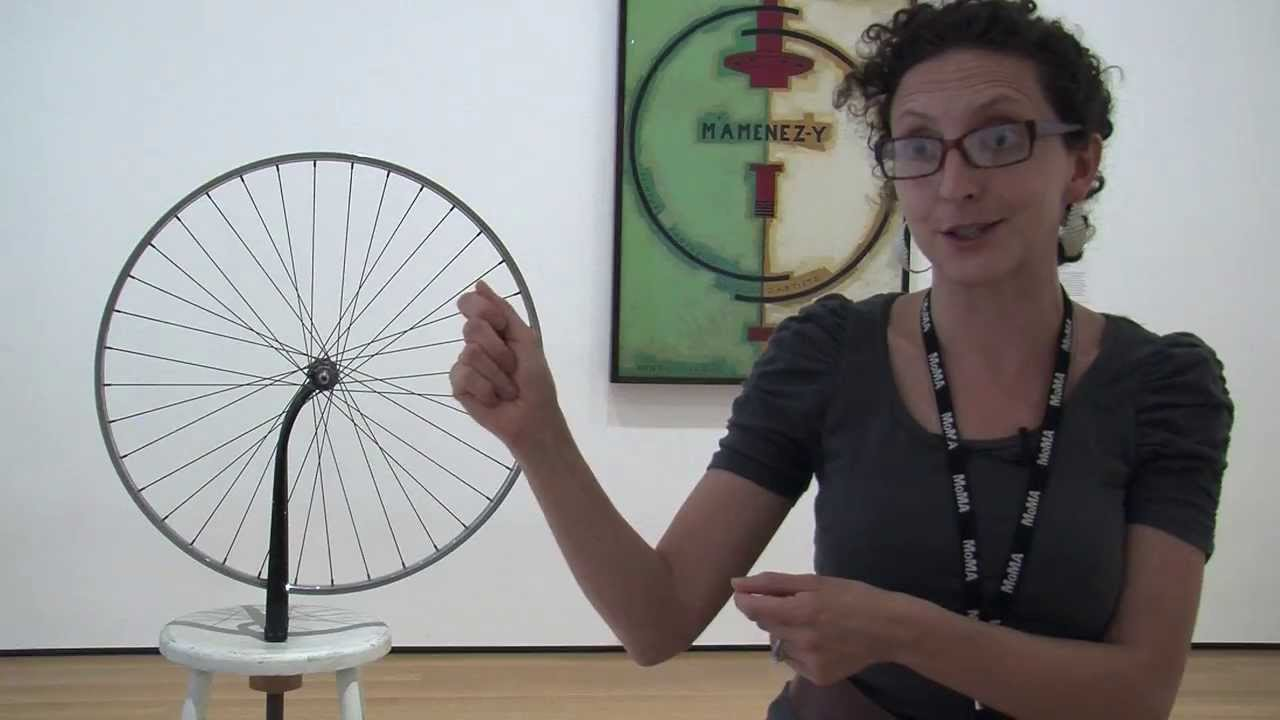 marcek duchamp readymades the bicycle wheel essay Back in paris after world war i, duchamp experimented with machines that produced optical effects, work he had begun in new york when this machine is.