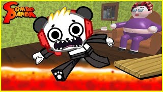 Roblox Escape Grandma's House CRAZY CATS Let's Play with Combo Panda