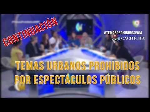 ¡CONTINUACIÓN! Debate en Esta Noche Mariasela sobre la prohibición de los temas de urbanos (1/4)