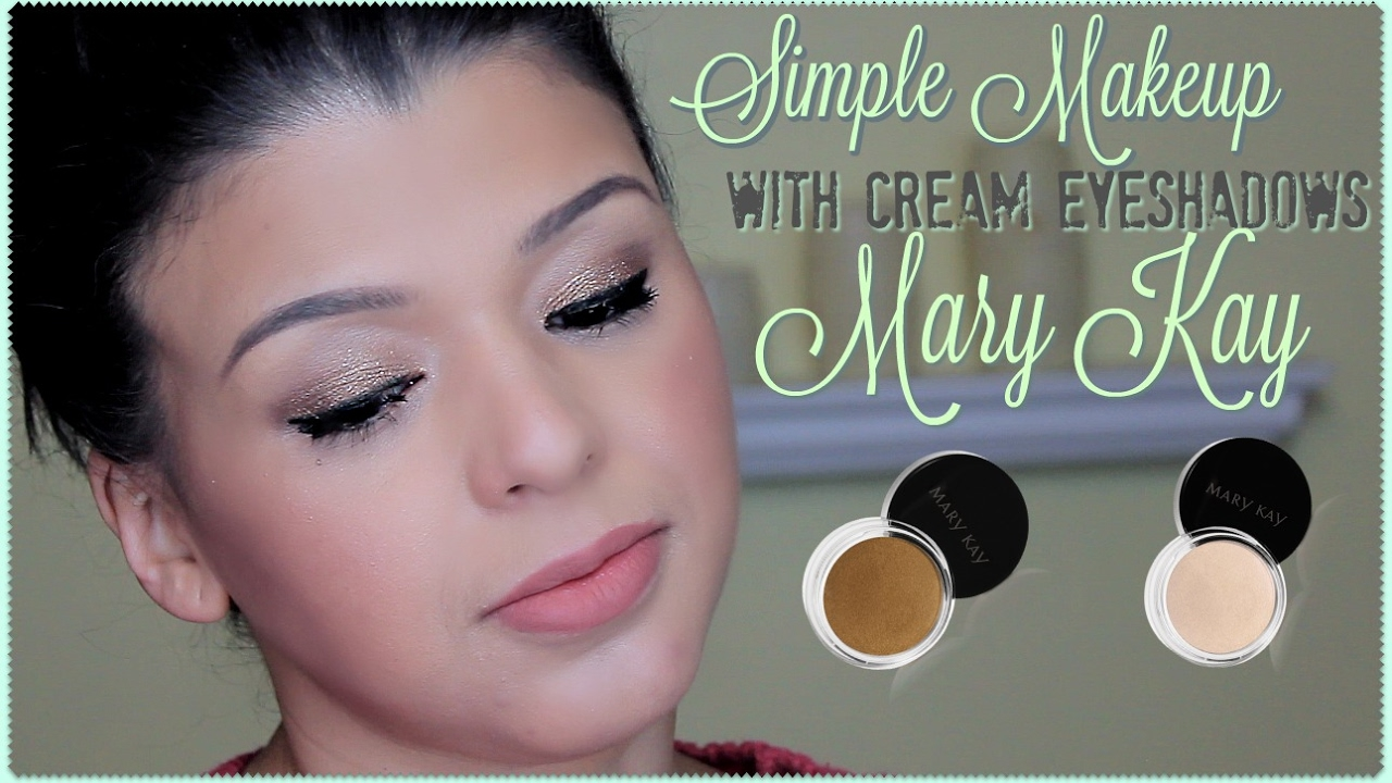 Cream eye makeup