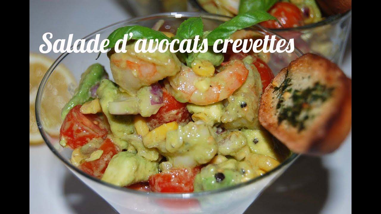 recette salade d avocats aux crevettes