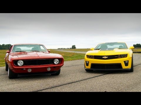 2012 Chevy Camaro ZL1 vs. Mark Stielow's Red Devil '69 Camaro - HOT RO