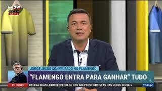 Jornalistas portugueses falam sobre Jorge Jesus no Flamengo.