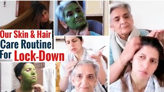 Our Natural Skin & Hair Care Routine for Lockdown with Homemade Mask, Scrub etc | ft. Satvanti Singh