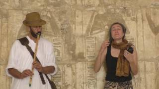 Sacred Dialogues; Malea Birke & Hisham Abdelmoety in the temple of Ramses III