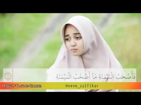 subhanallah Tilawah Veve zulfikar bikin merinding, surah al waqiah 1 9