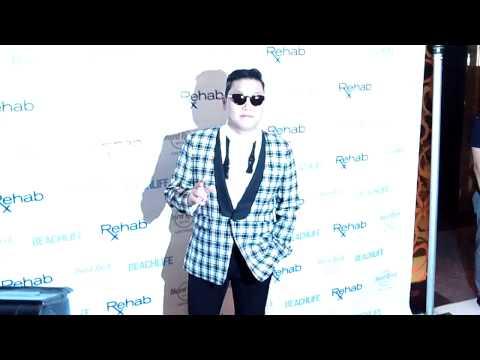 Psy Oppa Rapper of Gangnam Style at Rehab Hard Rock Las Vegas 10-21-12