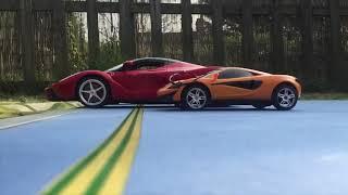 LaFerrari vs Porsche GT3 RS vs McLaren 570s RC Drag Race
