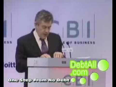 Gordon Brown Prime Minister On The UK's Crashing Economy (Debt)