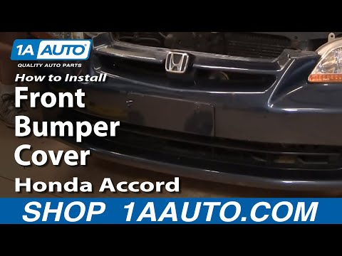 How To Install Repair Replace Front Bumper Cover Honda Accord 4 door 98-02 1AAuto.com