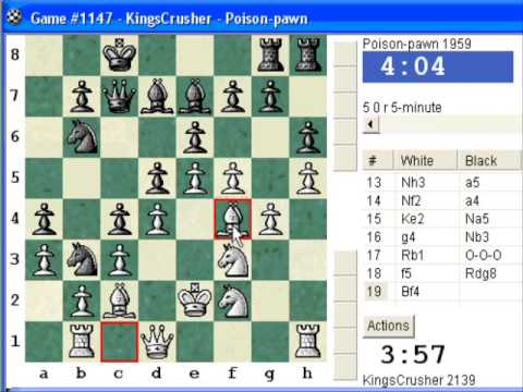 Chess World.net: Blitz #151 vs. Poison-pawn (1959) - French: Tarrasch, closed variation (C05)