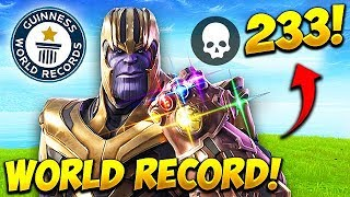 *WORLD RECORD* 233 KILLS AS THANOS! - Fortnite Funny Fails and WTF Moments! #539