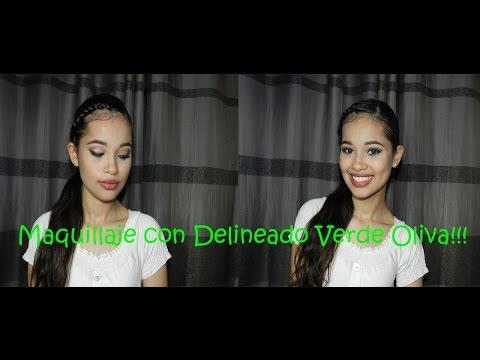 Maquillaje con Delineado Verde Oliva - Aprende a Maquillar con Katherine Isabel
