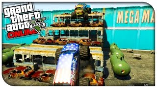GTA 5 Fun Races - MONSTER TRUCKING THROUGH THE CITY! [GTA V Online Funny Moments]