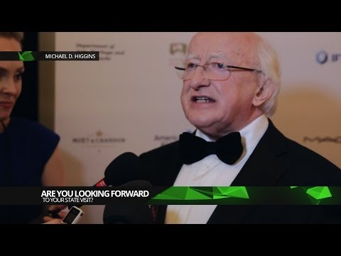 Michael D Higgins Talking About His State Visit to the UK