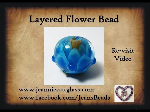 Layered Flower Lampwork Bead by Jeannie Cox