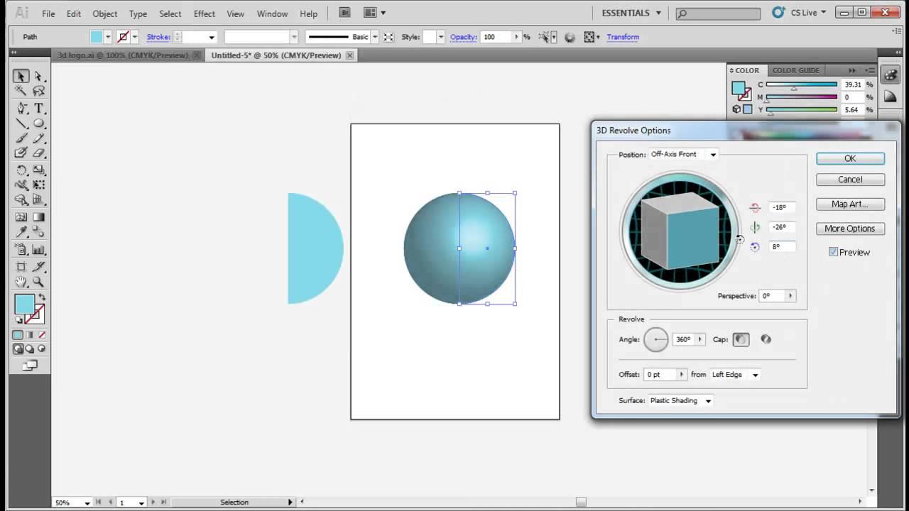 Logo Using Adobe Illustrator 3d Using Adobe Illustrator