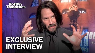(Spoilers) Keanu Reeves Thinks He Could Kill A Guy With Butter | John Wick: Chapter 3 Interview