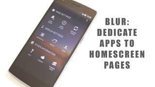 BLUR: Dedicate Apps To Home Screen Pages