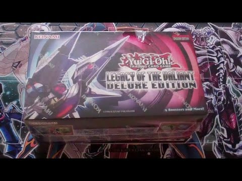 Opening Yugioh Legacy of the Valiant Deluxe Edition Box 1
