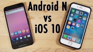 iOS 10 vs Android N Developer Previews! BETA Battle!