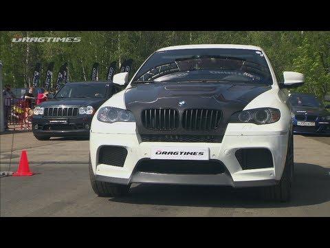 Porsche 911 Turbo S vs BMW X6M vs Jeep SRT-8
