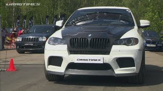 Porsche 911 Turbo S vs BMW X6M vs Jeep SRT-8