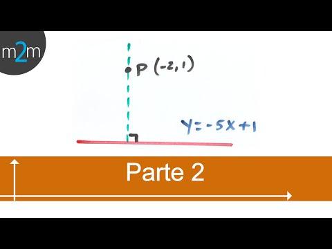 Ecuación de recta que pasa por un punto y es perpendicular a una recta dada (PARTE 2/2)