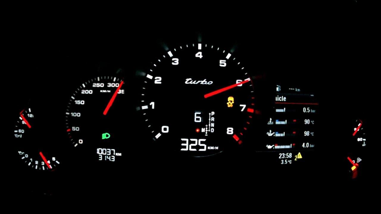 Porsche Panamera Turbo 2014 Acceleration 0 310 Km H Top