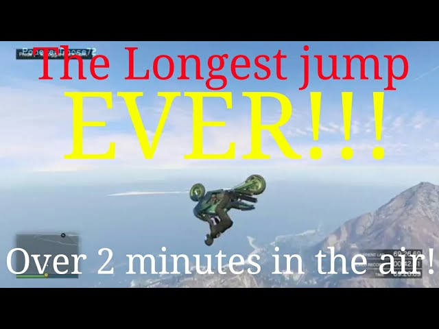 GTA 5 Online: LONGEST JUMP EVER!! Must see to believe.