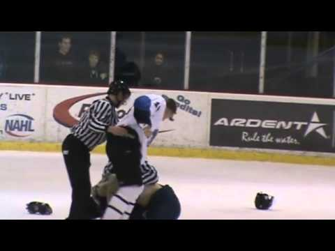 Its a Hockey Fight a real Hockey Fight