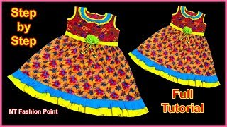 How to Learn Professional Cutting and Stitching for Baby Dresses | Easily Make Baby Frock