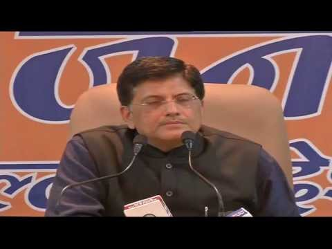 BJP Press Conference by Shri Piyush Goyal on Inverter and Diesel Generator Mukt Delhi