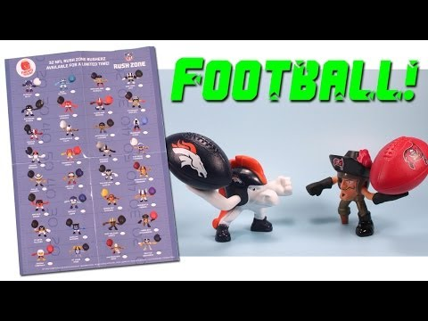 McDonald's Happy Meal NFL Rush Zone 2013 Mystery Figures and Codes