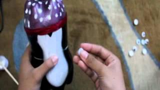 "Tutorial ""Membuat Boneka Penguin Botol Bekas"""