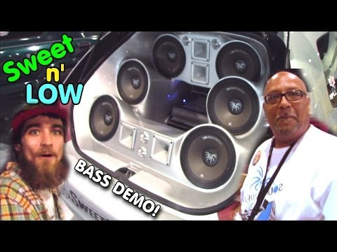 Exo Gets A Bass Scare W  2 18 Subs On Soundstream Xxx 15000 & Custom Fiberglass Trunk Speaker Pods video