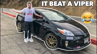 I DROVE A MODIFIED PRIUS EXTREMELY FAST LOL!