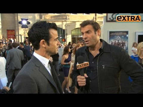 Justin Theroux Talks Jennifer Aniston with 'Extra'