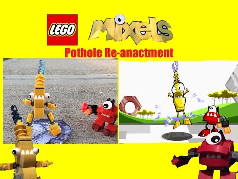 Lego mixels pothole re anactment youtube