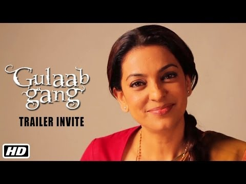 Juhi Chawla invites you to watch the trailer of Gulaab Gang