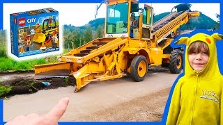 Lego City Construction Trucks + Real City Construction Trucks!