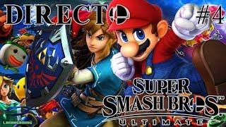 Super Smash Bros Ultimate - Directo 4# Español - Multijugador contra el lag - Nintendo Switch