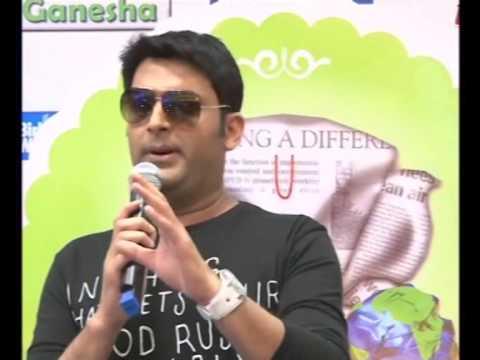 Indian comedian promotes upcoming debut film in Mumbai