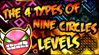 "The 4 Types of ""Nine Circles"" levels"