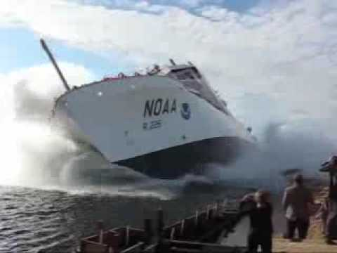 NOAA Ship Pisces Launch