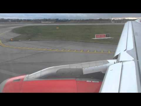 British Midland/bmi Airbus A320 Take off from Manchester Airport (MAN/EGCC) runway 23R G-MIDO