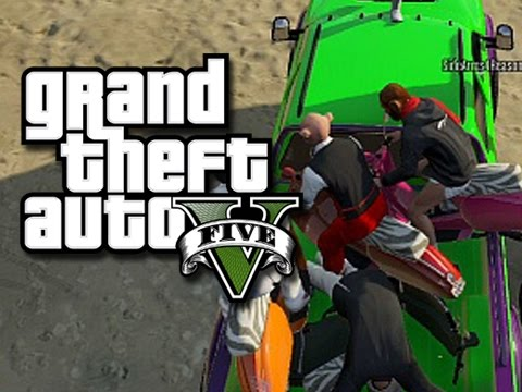 GTA 5 Online Funny Moments! - Pirate Takeover!
